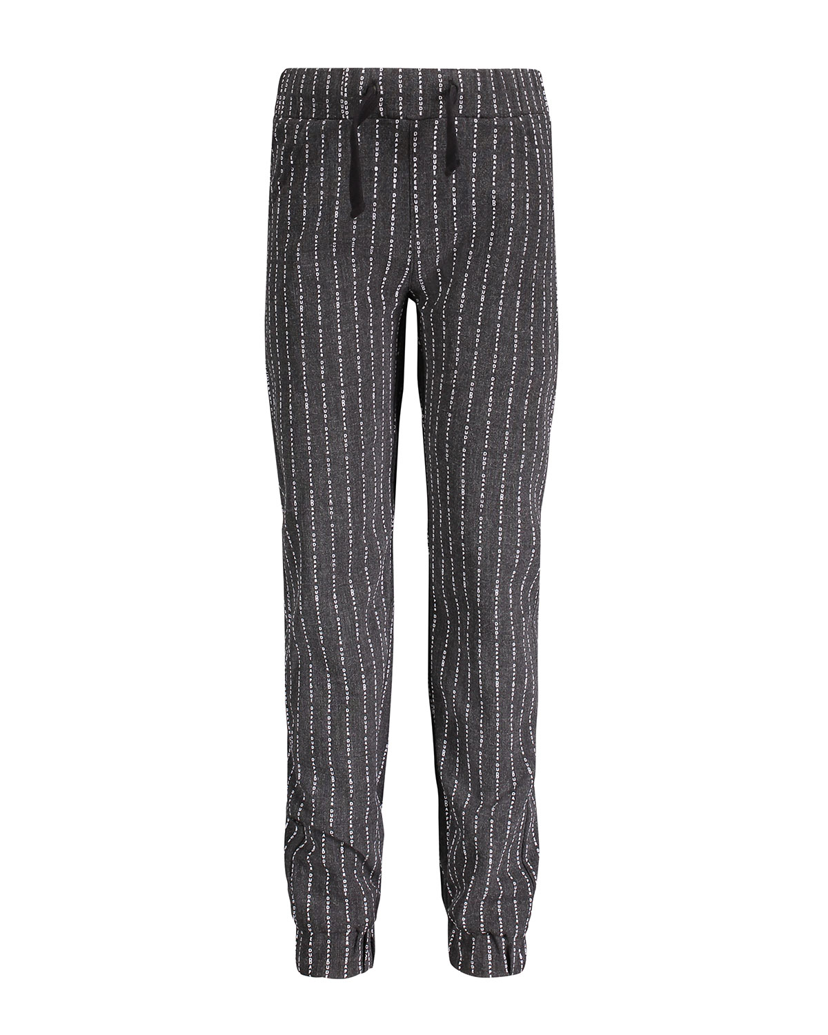 ANDY & EVAN Letter Striped Jogger Pants, Size 2-7 in Gray