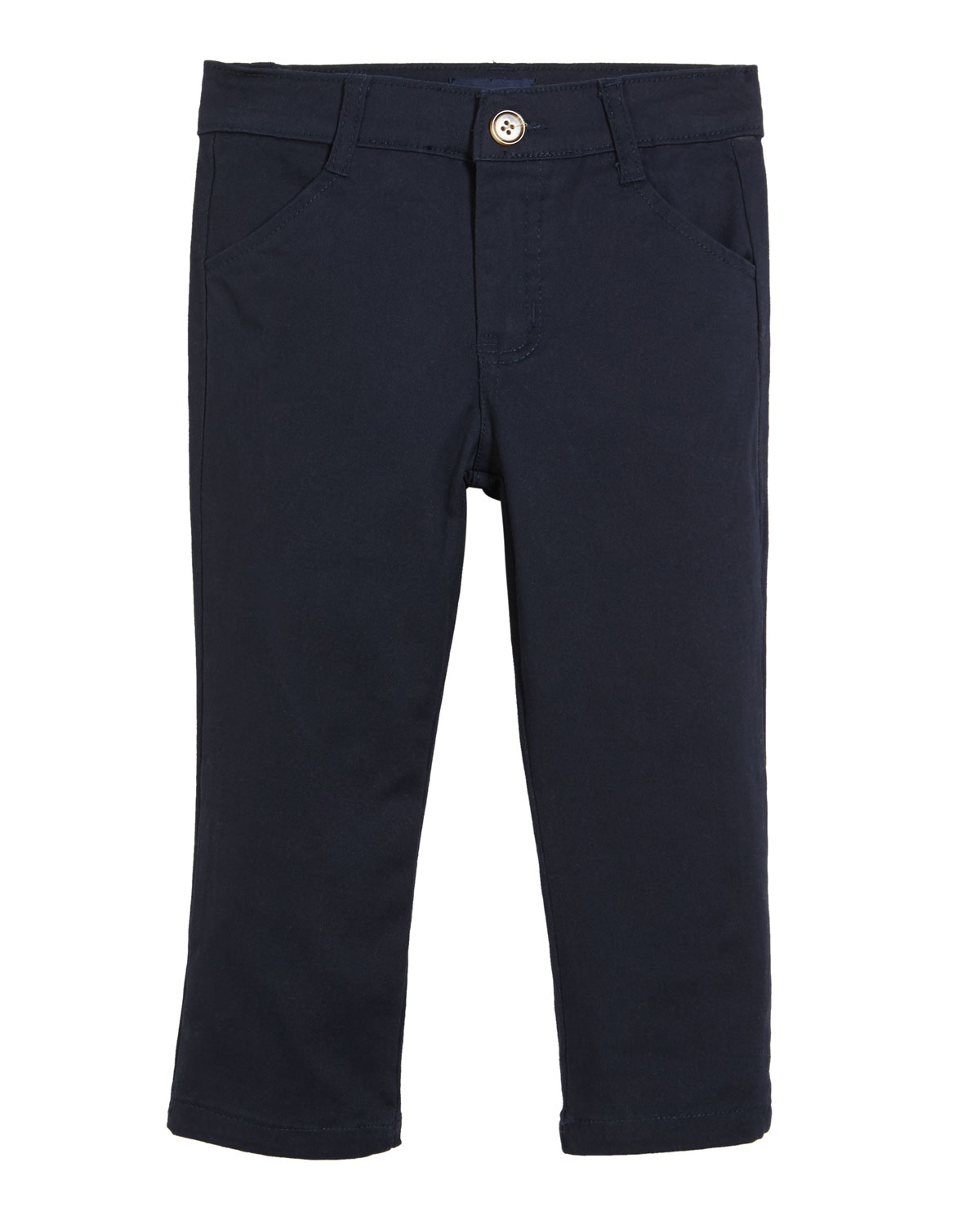 ANDY & EVAN Classic Twill Straight-Leg Pants, Size 2-7 in Blue