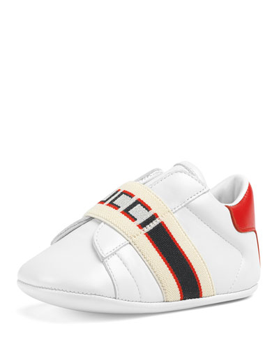 050b8d56c04 New Ace Gucci Band Leather Sneakers