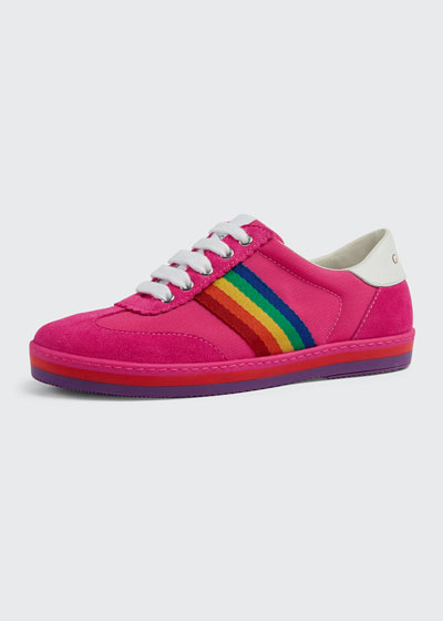 Suede Rainbow Sides Sneakers, Toddler/Kids