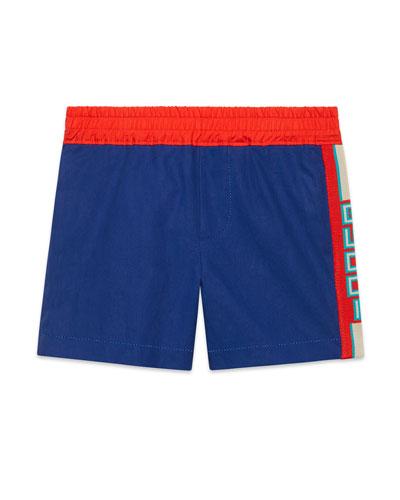 Bermuda Shorts w/ Logo Taping, Size 9-36 Months