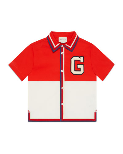 Colorblock G-Patch Polo Shirt, Size 4-12
