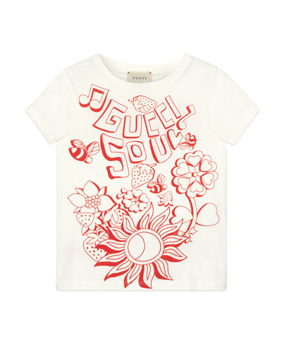 c5153e9a8 Gucci Soul & Love Short-Sleeve T-Shirt, Size 4-10