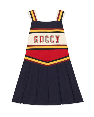 Jersey Colorblock Guccy Cheerleader Dress, Size 4-12