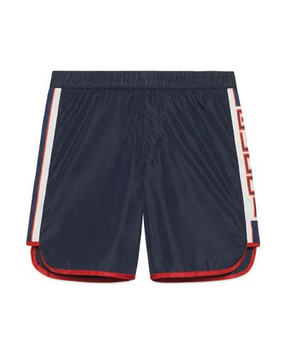 Athletic Shorts w/ Logo Sides, Size 4-12