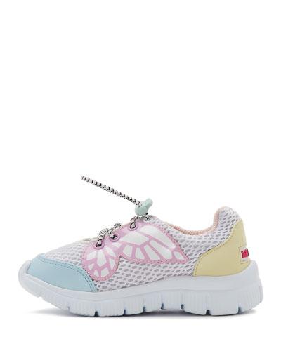 Chiara Mesh Butterfly-Wing Sneakers, Kids
