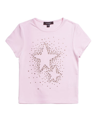 Studded Star Jersey T-Shirt, Size 4-6