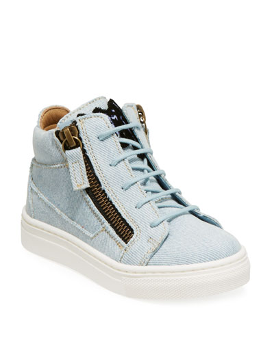 Denim Mid-Top Sneakers, Toddler