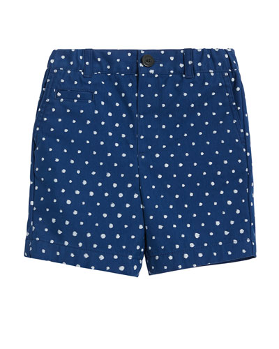 Mateo Spotted Print Shorts, Size 12M-2