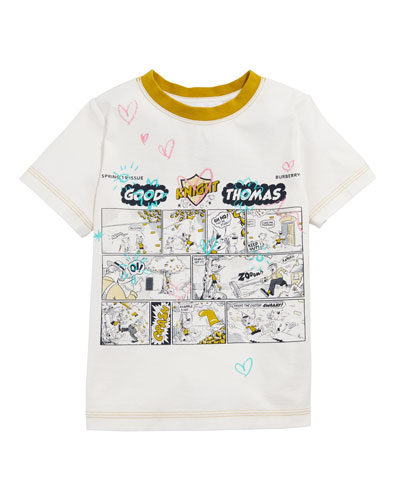 Comic Doodle Graphic Tee, Size 3-14