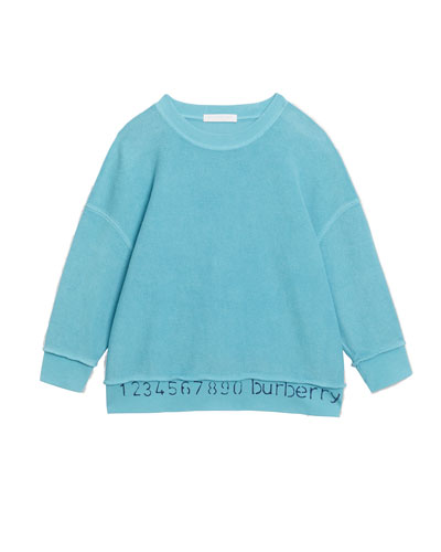 Gerome Logo & Numbers Long-Sleeve Knit Top, Size 3-14