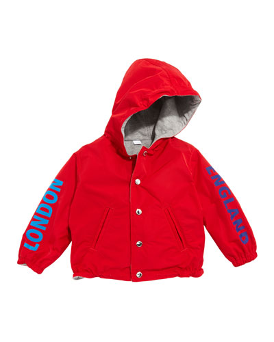 Noah Logo Graphic Hooded Jacket, Size 12M-2