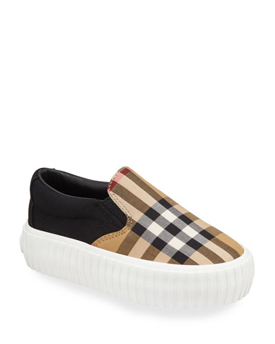 Erwin Check Sneakers, Toddler