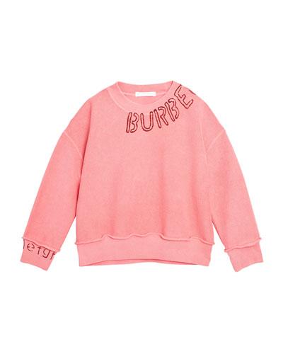 Rosalia Stencil Logo Sweater, Size 3-14