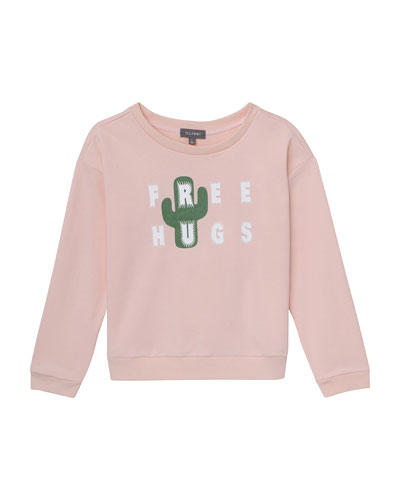 Girls' Edie Free Hugs Sweatshirt, Size S-L