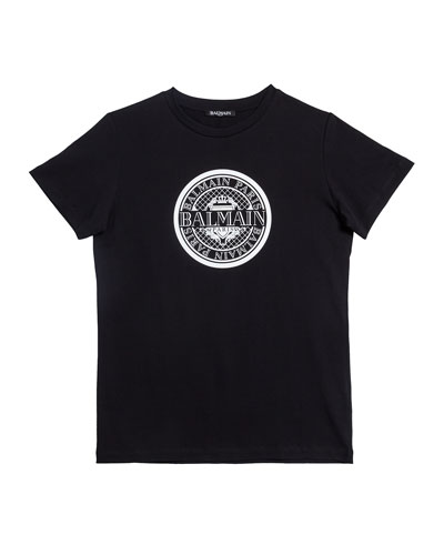 Short-Sleeve Coin Logo Tee, Size 12-16