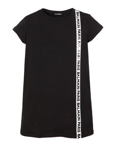 efa74f6da4 Short-Sleeve T-Shirt Dress w  Side Logo Trim