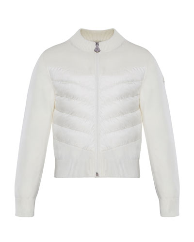 Knit Stand-Collar Zip-Front Jacket, Size 8-14