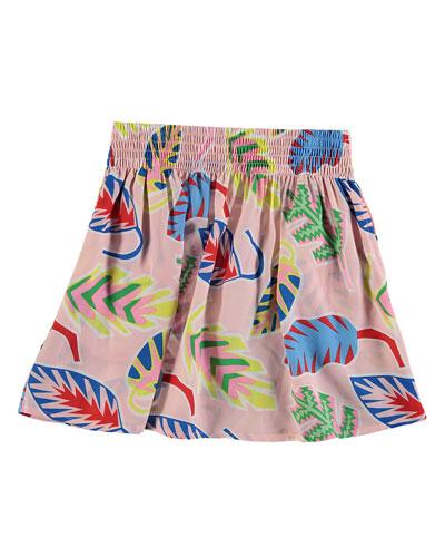 Palm Leaf A-Line Skirt, Size 4-14