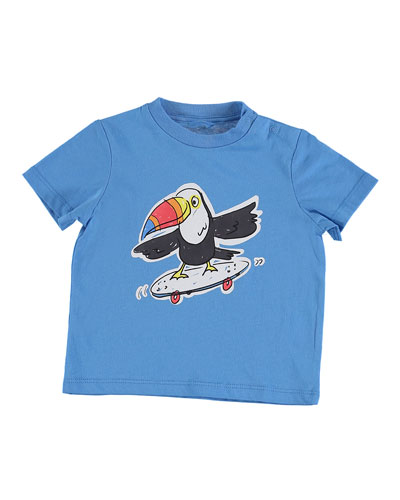 Skateboarding Toucan Graphic Tee, Size 12-36 Months