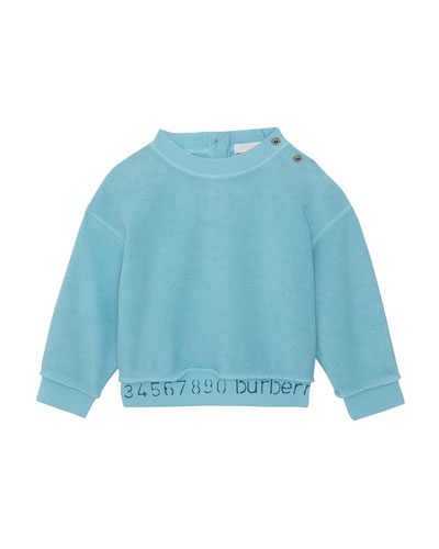 Damien Logo & Numbers Long-Sleeve Knit Top, Size 6M-2