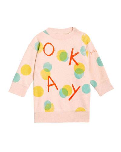 Okay Long-Sleeve Sweatshirt Dress, Size 12M-2