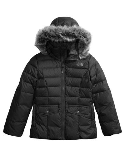 Gotham 2.0 Embossed Taffeta Jacket w/ Fur Trim, Size XXS-XL