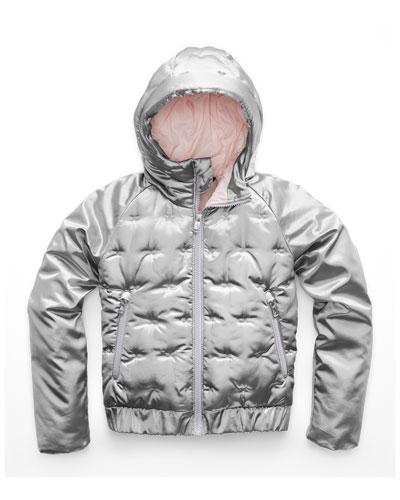 Mashup Metallic X-Stitch Hooded Jacket, Size XXS-XL