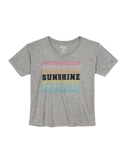 Short-Sleeve Sunshine Graphic Tee, Size S-XL