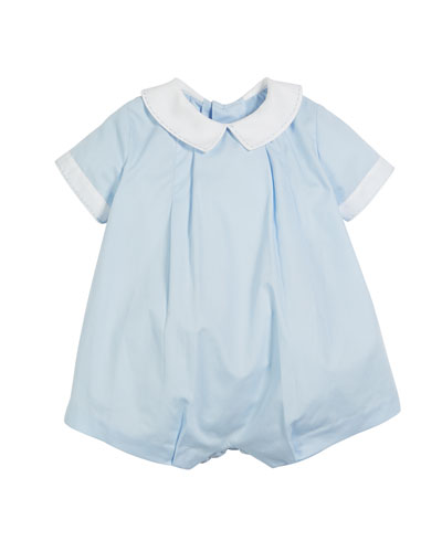 Luli & Me Teddy Two-Tone Bubble Playsuit, Size