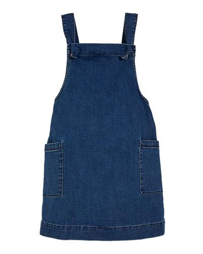 Girls' Joslyn Sleeveless Denim Dress, Size S-L
