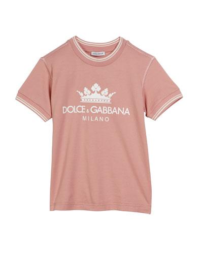 Crown D&G Logo Ringer Tee, Size 8-12