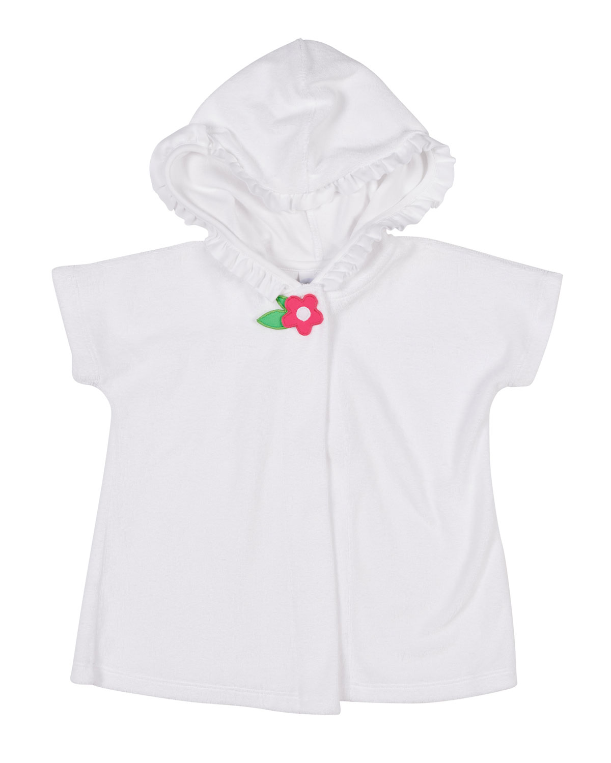 FLORENCE EISEMAN Knitted Terry Hooded Coverup, Size 2-4 in White