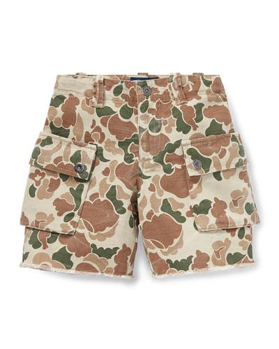 Camo Cargo Shorts, Size 2-4