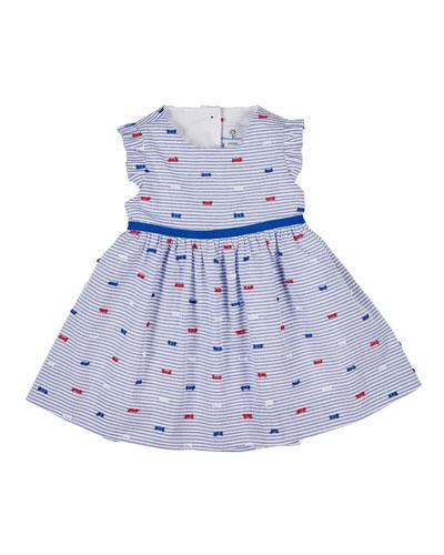 Butterfly Kisses Striped Cutaway-Back Dress, Size 2-6X