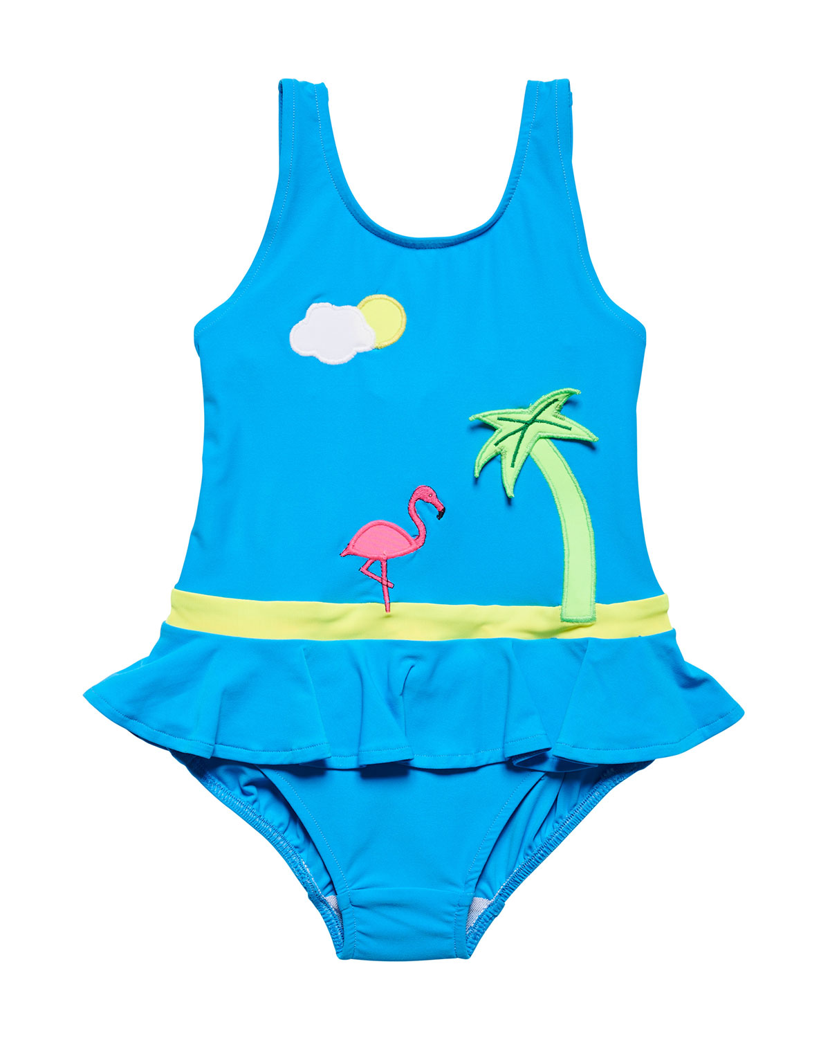 FLORENCE EISEMAN Tropical Scene One-Piece Swimsuit, Size 2-6X in Blue