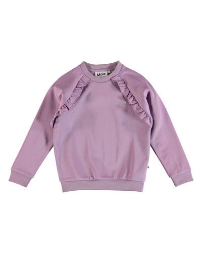 33eb944a Long Sleeve Trim Sweatshirt | bergdorfgoodman.com