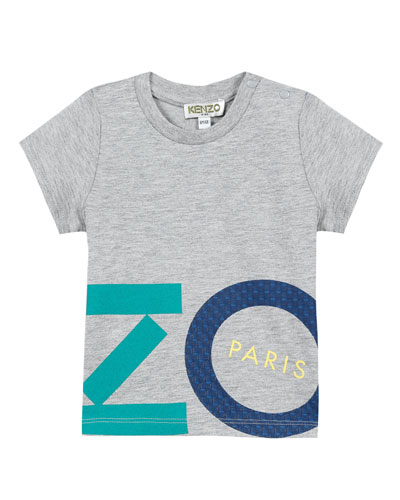 Multicolored Logo Lettering Print T-Shirt, Size 12-18 Months