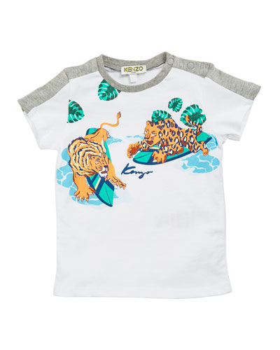 Kenzo Surfing Tiger Graphic Tee, Size 12-18 Months
