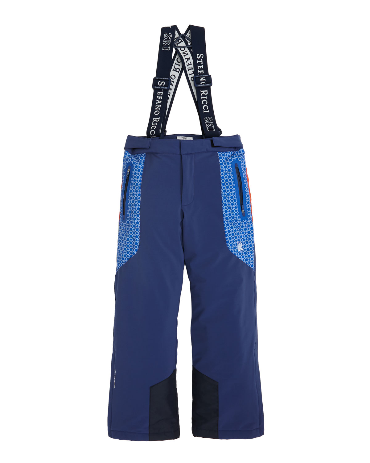 Stefano Ricci Pants BOYS' SKI PANTS WITH SUSPENDERS, SIZES 10-14