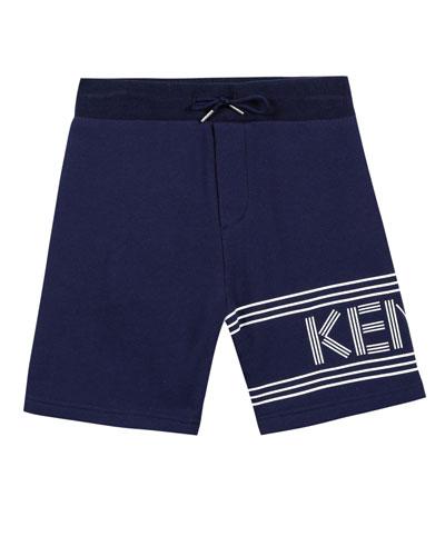 Fleece Logo Bermuda Shorts, Size 2-4