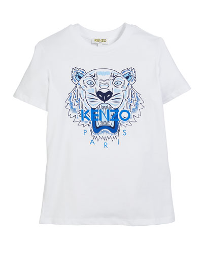 Tiger Logo Print T-Shirt, Size 8-12