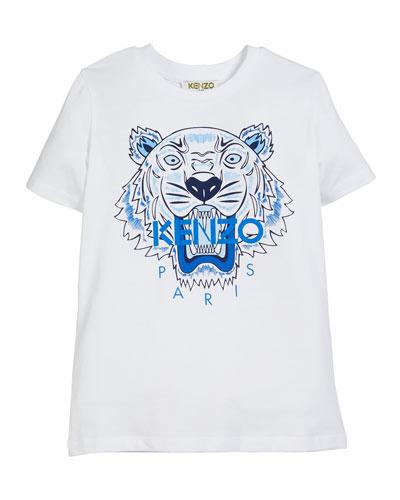 Tiger Logo Print T-Shirt, Size 5-6