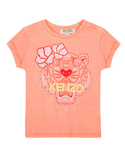 Floral Tiger Graphic T-Shirt, Size 8-12