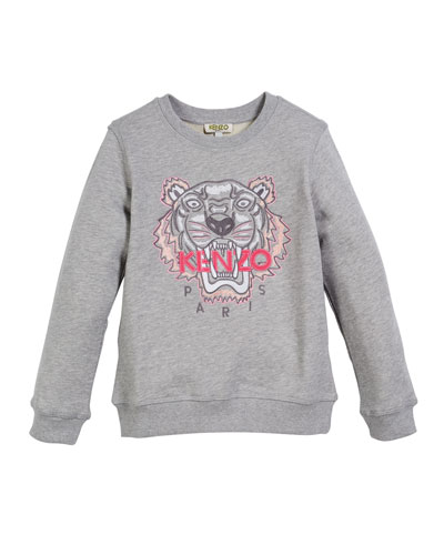 Tiger Face Sweatshirt, Sizes 5-6