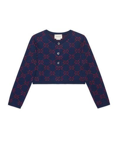 Lurex GG Supreme Jacquard Half Cardigan, Size 4-12