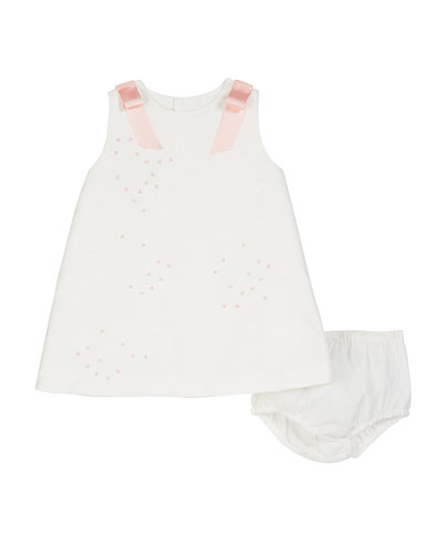 A-Line Brocade Dress w/ Bloomers, Size 3-18 Months