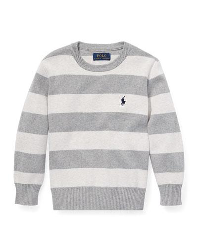 Striped Cotton Sweater 1907ffcce