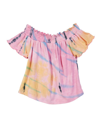 Tie Dye Off-the-Shoulder Top, Size S-XL