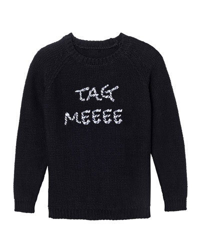 Tag Meeee Knit Sweater, Size 7-16